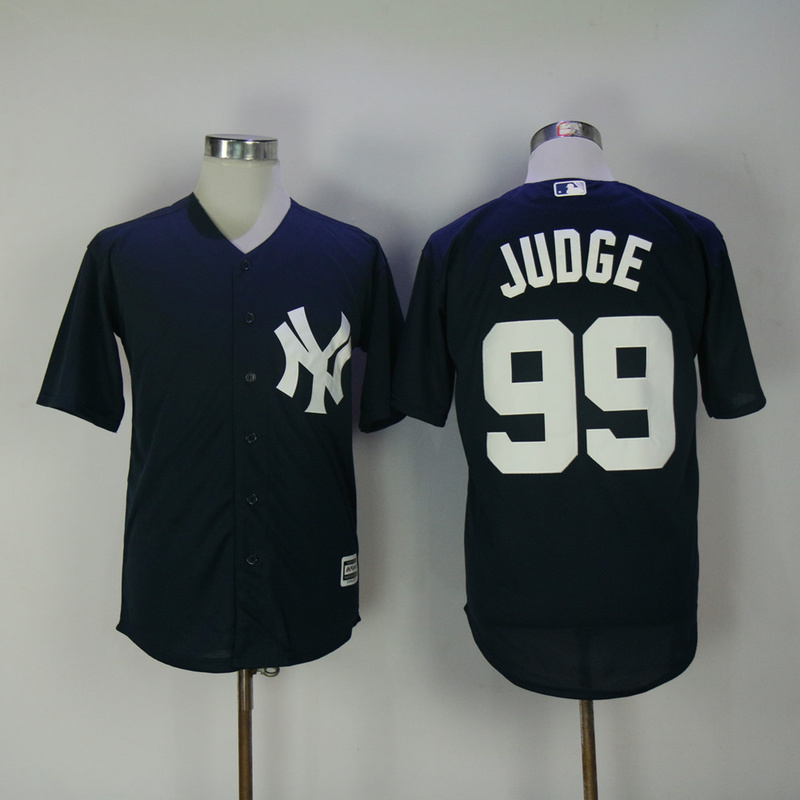 2017 MLB New York Yankees 99 Judge Blue Game Jerseys
