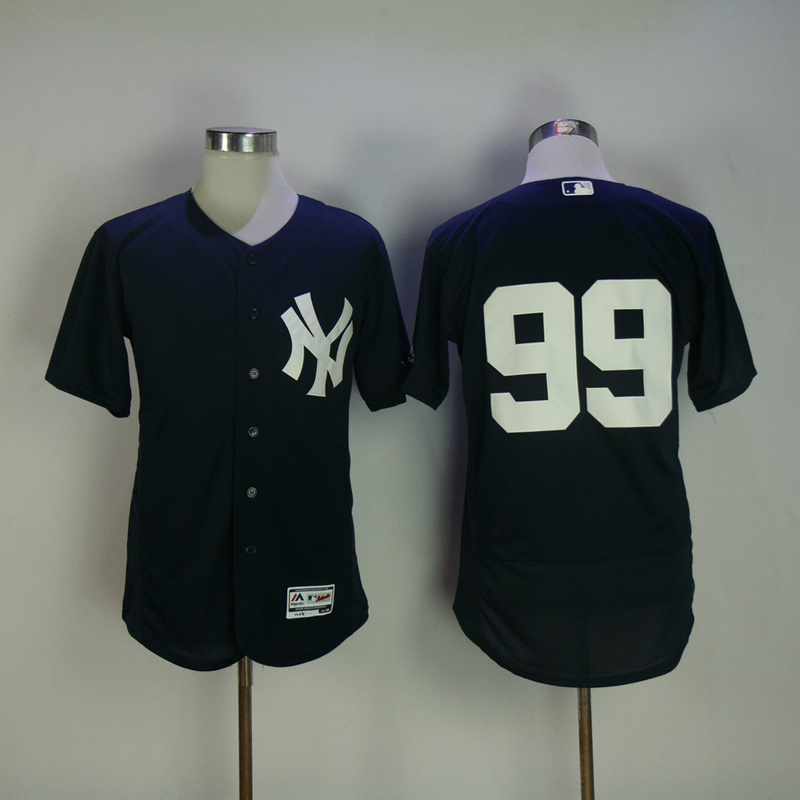 2017 MLB New York Yankees 99 No name Blue Elite Jerseys