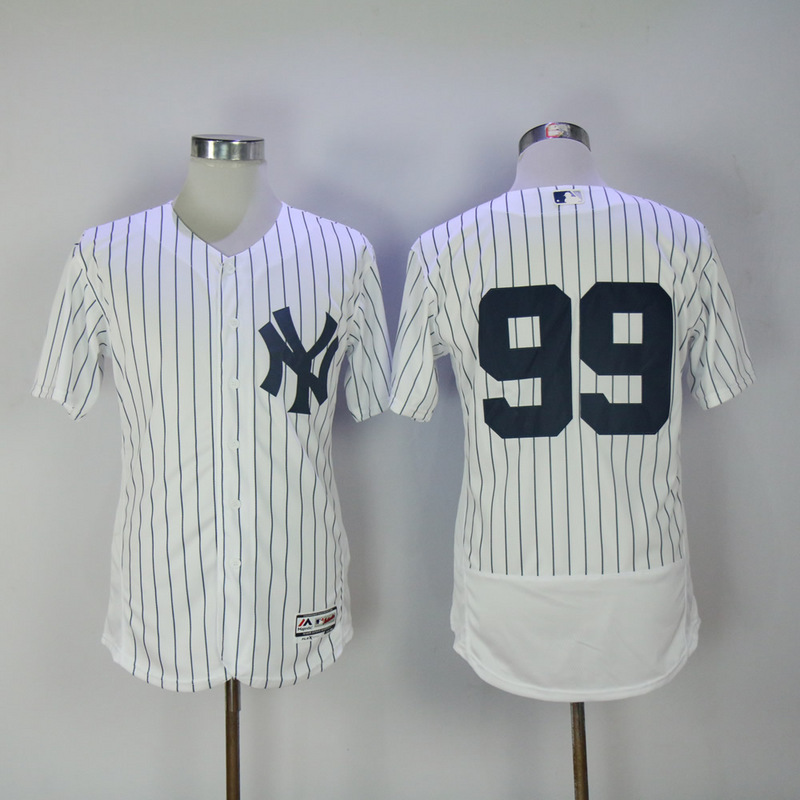 2017 MLB New York Yankees 99 No name White Elite Jerseys