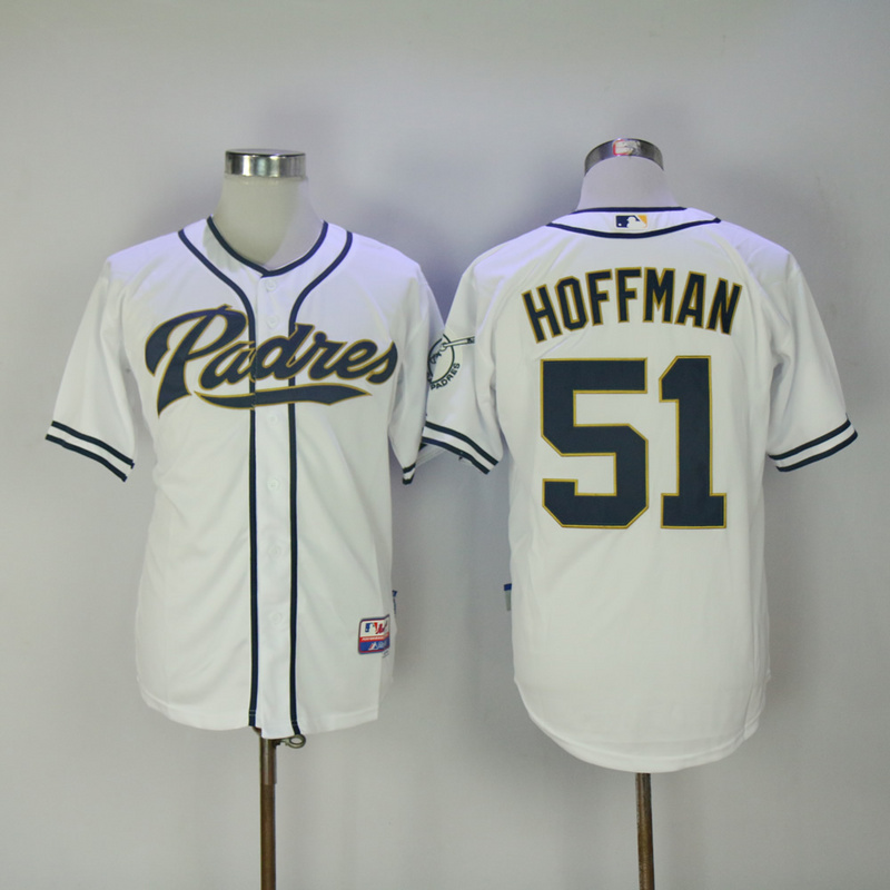 2017 MLB San Diego Padres 51 Hoffman White Jerseys