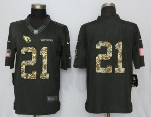 2017 Men Arizona Cardinals 21 Peterson Anthracite Salute To Service New Nike Limited Jersey