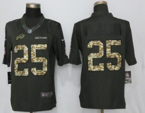 2017 Men Buffalo Bills 25 McCoy Anthracite Salute To Service New Nike Limited Jersey