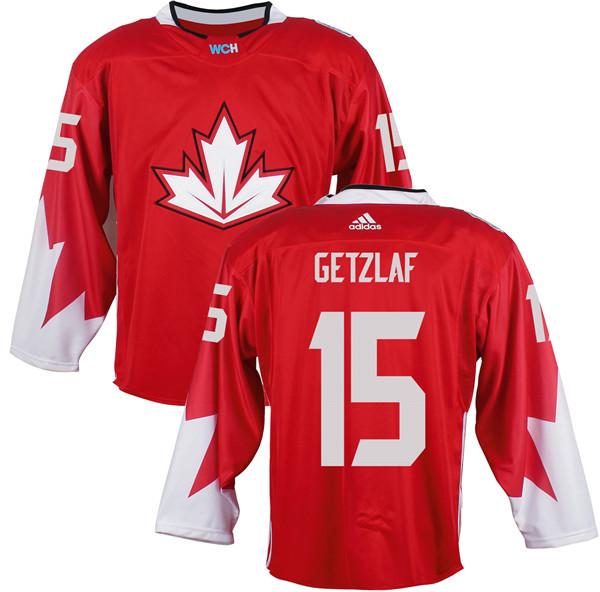 Mens Team Canada 15 Ryan Getzlaf 2016 World Cup of Hockey Olympics Game Red Jerseys