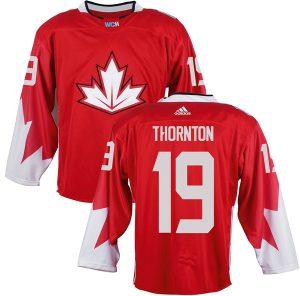 Mens Team Canada 19 Joe Thornton 2016 World Cup of Hockey Olympics Game Red Jerseys