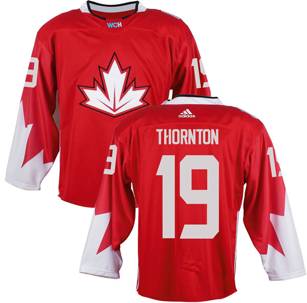 Mens Team Canada 19 Joe Thornton 2016 World Cup of Hockey Olympics Game Red Jerseys