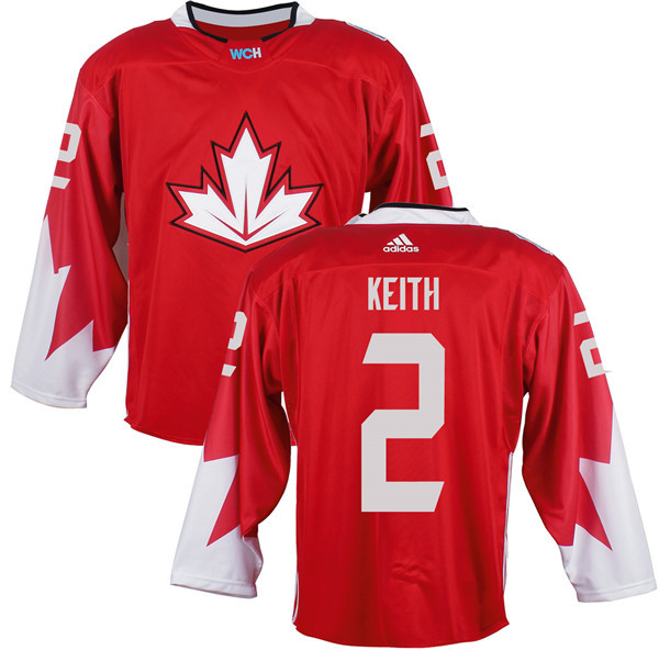 Mens Team Canada 2 Duncan Keith 2016 World Cup of Hockey Olympics Game Red Jerseys