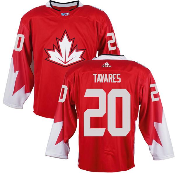 Mens Team Canada 20 John Tavares 2016 World Cup of Hockey Olympics Game Red Jerseys
