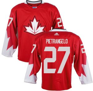 Mens Team Canada 27 Alex Pietrangelo 2016 World Cup of Hockey Olympics Game Red Jerseys