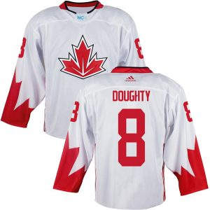 Mens Team Canada 8 Drew Doughty 2016 World Cup of Hockey Olympics Game White Jerseys