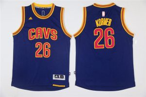 NBA Cleveland Cavaliers 26 Korver Blue Game Jerseys