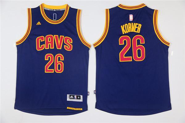 NBA Cleveland Cavaliers 26 Korver Blue Game Jerseys