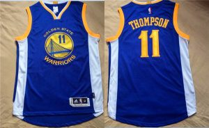 NBA Golden State Warriors 11 Thompson Blue Jerseys