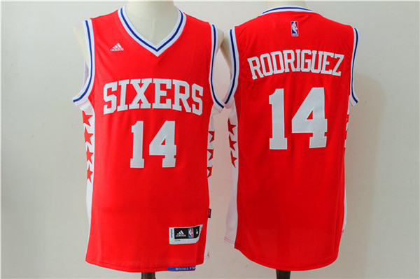 NBA Philadelphia 76ers 14 Rodriguez red Jerseys