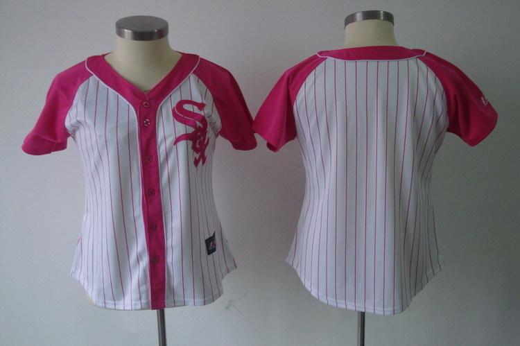 Womens 2017 MLB Chicago White Sox Blank Pink Splash Fashion Jersey