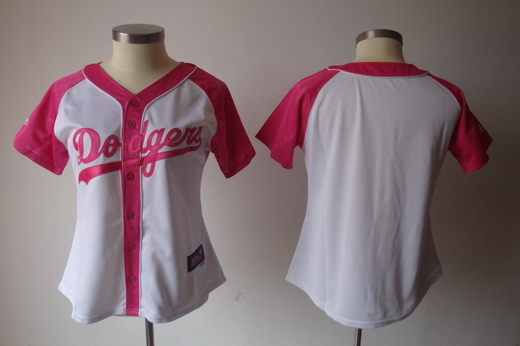 Womens 2017 MLB Los Angeles Dodgers Blank Pink Splash Fashion Jersey
