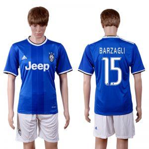 2016-2017 club Juventus away 15 Blue Soccer Jersey