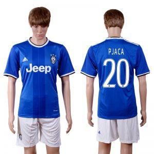 2016-2017 club Juventus away 20 Blue Soccer Jersey
