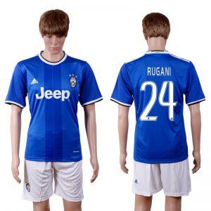 2016-2017 club Juventus away 24 Blue Soccer Jersey