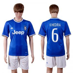 2016-2017 club Juventus away 6 Blue Soccer Jersey