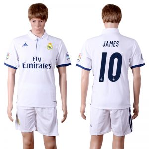 2016-2017 club Real Madrid home 10 White Soccer Jersey