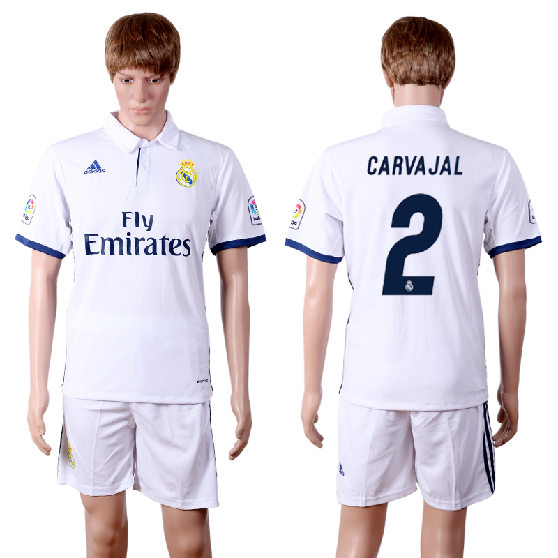 2016-2017 club Real Madrid home 2 White Soccer Jersey