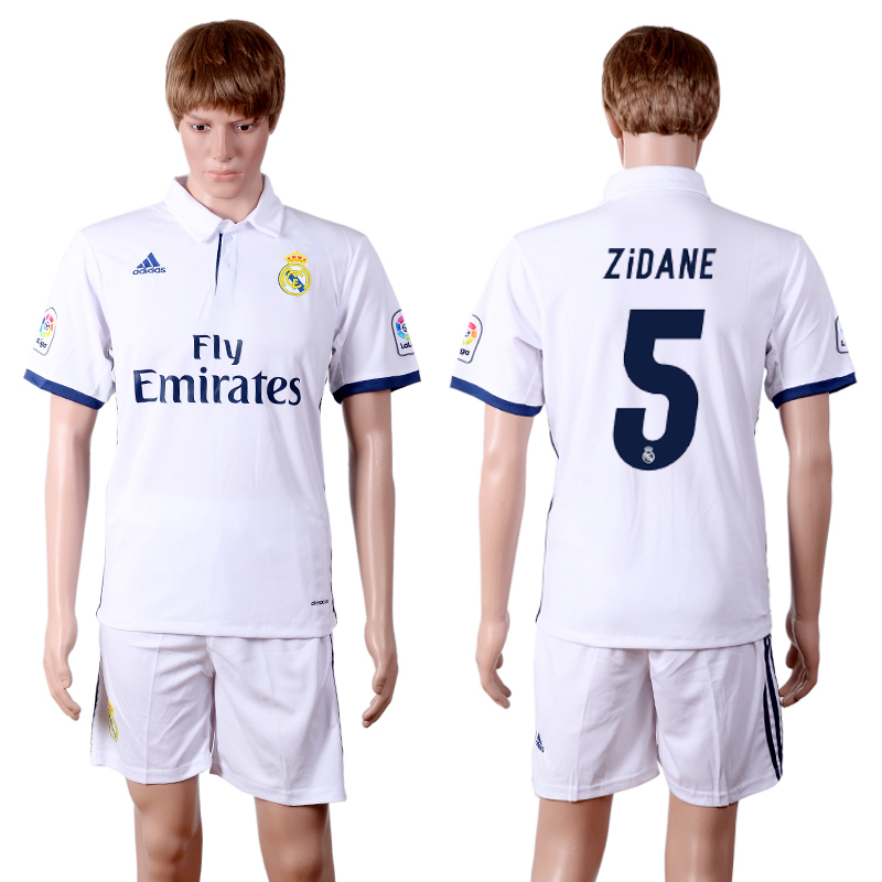 2016-2017 club Real Madrid home 5 White Soccer Jersey