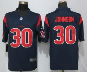 2016 Nike Men's Houston Texans 30 Johnson Navy Blue Color Rush Limited Jersey