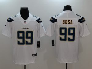Men San Diego Chargers 99 Bosa White Nike Vapor Untouchable Limited NFL Jerseys
