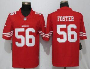 Men San Francisco 49ers 56 Foster Red Nike Limited NFL Jerseys