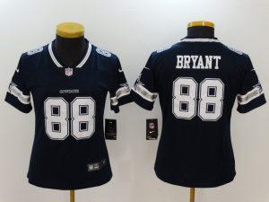 Women Dallas Cowboys 88 Bryant Blue Nike Vapor Untouchable Limited NFL Jerseys